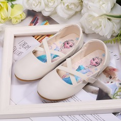 Girl's Round Toe Closed Toe Microfiber Leather Flats Sneakers & Athletic Flower Girl Shoes