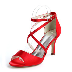 Women's Stiletto Heel Peep Toe With Lace-up