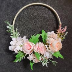 Klassisk stil Hånd Bundet Satin/Simulerings Bær/Silke blomst/Kunstige Blomster Brude Buketter/Brudepike Buketter/Bryllup Bord Blomster (som selges i et enkelt stykke) - Brude Buketter/Brudepike Buketter