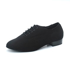 Men's Canvas Flats Ballroom Practice Dance Shoes