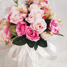Klassisk stil Hånd Bundet Rhinestone/Silke blomst/Kunstige Blomster Brude Buketter/Brudepike Buketter (som selges i et enkelt stykke) - Brude Buketter/Brudepike Buketter