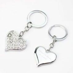 Personlig Hjerteformede Zinc Aluminiums Nøkkelringer