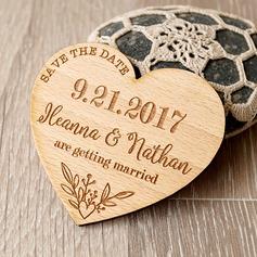 Personlig Hjerte-formet Tre Påminnelsesmagneter