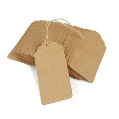 Classic Rectangular Kraft Paper Tags