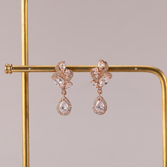 Ladies' Elegant Alloy/Zircon Cubic Zirconia Earrings For Bride/For Bridesmaid/For Mother