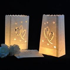 Fin Hjerte Utforming Papir Luminary