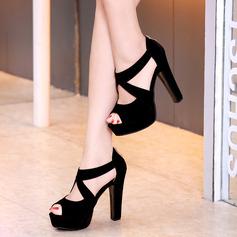 Women's Stiletto Heel Sandals Platform Peep Toe shoes