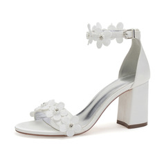 Women's Satin Sandals With Applique