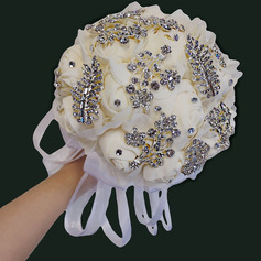 Klassisk stil Hånd Bundet Klut/Silke blomst Brude Buketter/Brudepike Buketter (som selges i et enkelt stykke) - Brude Buketter/Brudepike Buketter