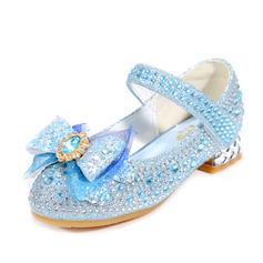 Jentas Lukket Tå Microfiber Lær lav Heel Flower Girl Shoes