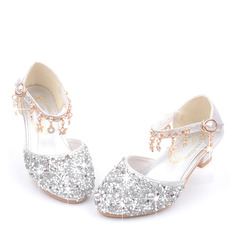 Girl's Round Toe Closed Toe Leatherette Flower Girl Shoes With Crystal (207200934)
