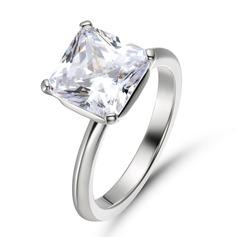 Solitaire Princess Cut 925 sølv Forlovelsesringer (303255783)