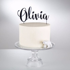 Personalized Simple/Chic Wooden Cake Topper