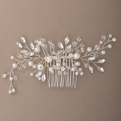 Damer Elegant Crystal/Imitert Perle/Glass Kammer og Barrettes med Venetianske Perle (Selges i ett stykke)