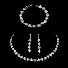 Ladies' Elegant Alloy/Rhinestones Jewelry Sets (011253772)