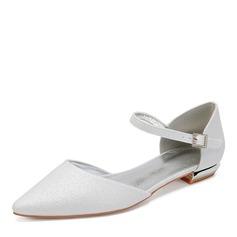Women's Sparkling Glitter Flat Heel Flats Sandals With Rhinestone Sequin Sparkling Glitter
