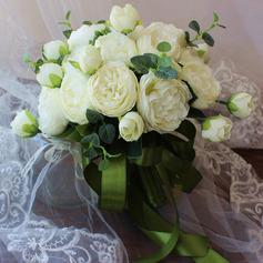 Klassisk stil Hånd Bundet Satin/Silke blomst Brude Buketter/Brudepike Buketter (som selges i et enkelt stykke) - Brude Buketter/Brudepike Buketter