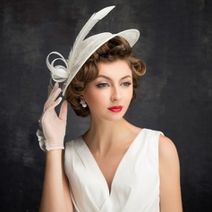 Ladies' Classic Feather/Tulle/Linen With Feather Fascinators/Tea Party Hats