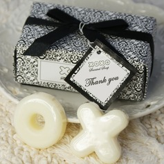 """Hugs & Kisses From Mr. & Mrs."" Soaps With Ribbons/Tag"