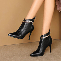 Women's PU Stiletto Heel Ankle Boots shoes