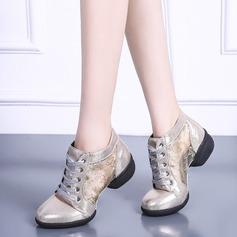 Women's Leatherette Mesh Sneakers Modern Jazz Sneakers Dance Shoes