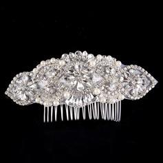 Damer Vakkert Rhinestone/Legering/Imitert Perle Kammer og Barrettes med Rhinestone/Venetianske Perle