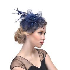 Damene ' Vakkert Cambric med Fjær Fascinators/Tea Party Hats
