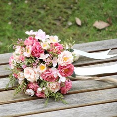 Hand-tied Satin Bridal Bouquets/Bridesmaid Bouquets -