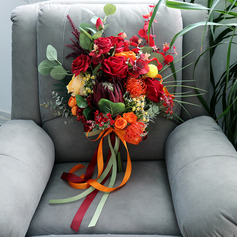 Pen Fri Form Silke blomst Brude Buketter - Brude Buketter