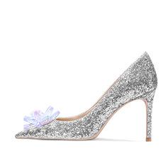 Kvinner Stiletto Hæl Pumps med Rhinestone sko
