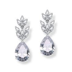 Elegant Alloy/Zircon With Cubic Zirconia Ladies' Earrings