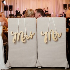 """Mr. & Mrs."" Elegant Tre Wedding Sign"