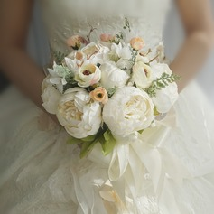 Blooming Round Silk/Cloth Bridal Bouquets/Bridesmaid Bouquets -
