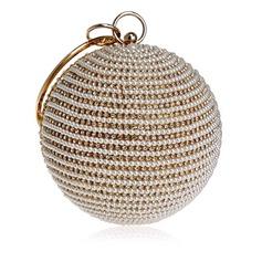 Charming Crystal/ Rhinestone/PU Clutches/Top Handle Bags