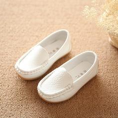 Unisexmodell Round Toe Lukket Tå Leather Flate sko