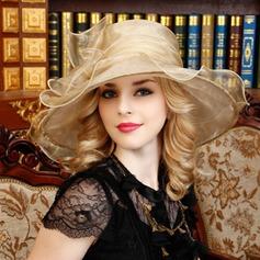 Damene ' Vakkert Organza med Bowknot Diskett Hatt/Kentucky Derby Hatter