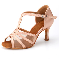 Women's Leatherette Heels Ballroom With Hollow-out Dance Shoes