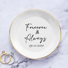 Simple/Classic/Pure Love/Delicate/Personalized Ceramic Ring Dish