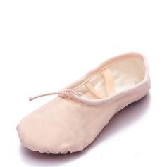 Kvinner Lerret Flate sko Ballett Mage Dansesko