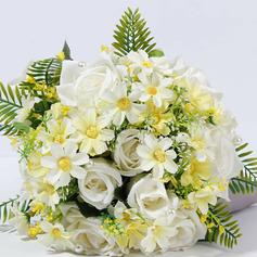 Klassisk stil Hånd Bundet Satin/Silke blomst/Kunstige Blomster Brude Buketter/Brudepike Buketter (som selges i et enkelt stykke) - Brude Buketter/Brudepike Buketter