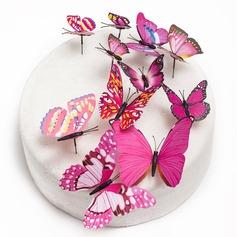 Butterfly/Fargerik PVC Kake Topper