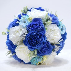 Round Satin/Emulational Berries Bridal Bouquets/Bridesmaid Bouquets -