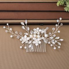 Damer Elegant Crystal/Imitert Perle/Glass Kammer og Barrettes med Venetianske Perle/Crystal (Selges i ett stykke) (042236878)