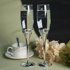 Personalized Toasting Flutes Zinc Alloy/Glass Toasting Flutes  (118154531)