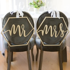 """Mr. & Mrs."" Elegant Wooden Wedding Sign"