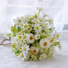 Klassisk stil Hånd Bundet Satin/Silke blomst/Sengetøy tauet/Kunstige Blomster Brude Buketter/Brudepike Buketter (som selges i et enkelt stykke) - Brude Buketter/Brudepike Buketter