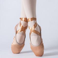 Kvinner Satin Ballett Dansesko
