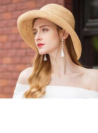 Ladies' Handmade Raffia Straw Straw Hat
