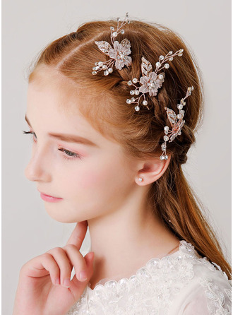 With Imitation Pearls/Rhinestones Hairpins (Set of 3)
