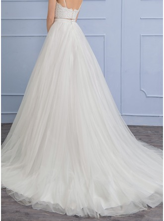 Separates Chapel Train Tulle Wedding Skirt (002110492)